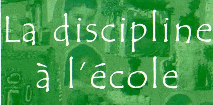 Discipline Scolaire : sanctionner en éduquant.